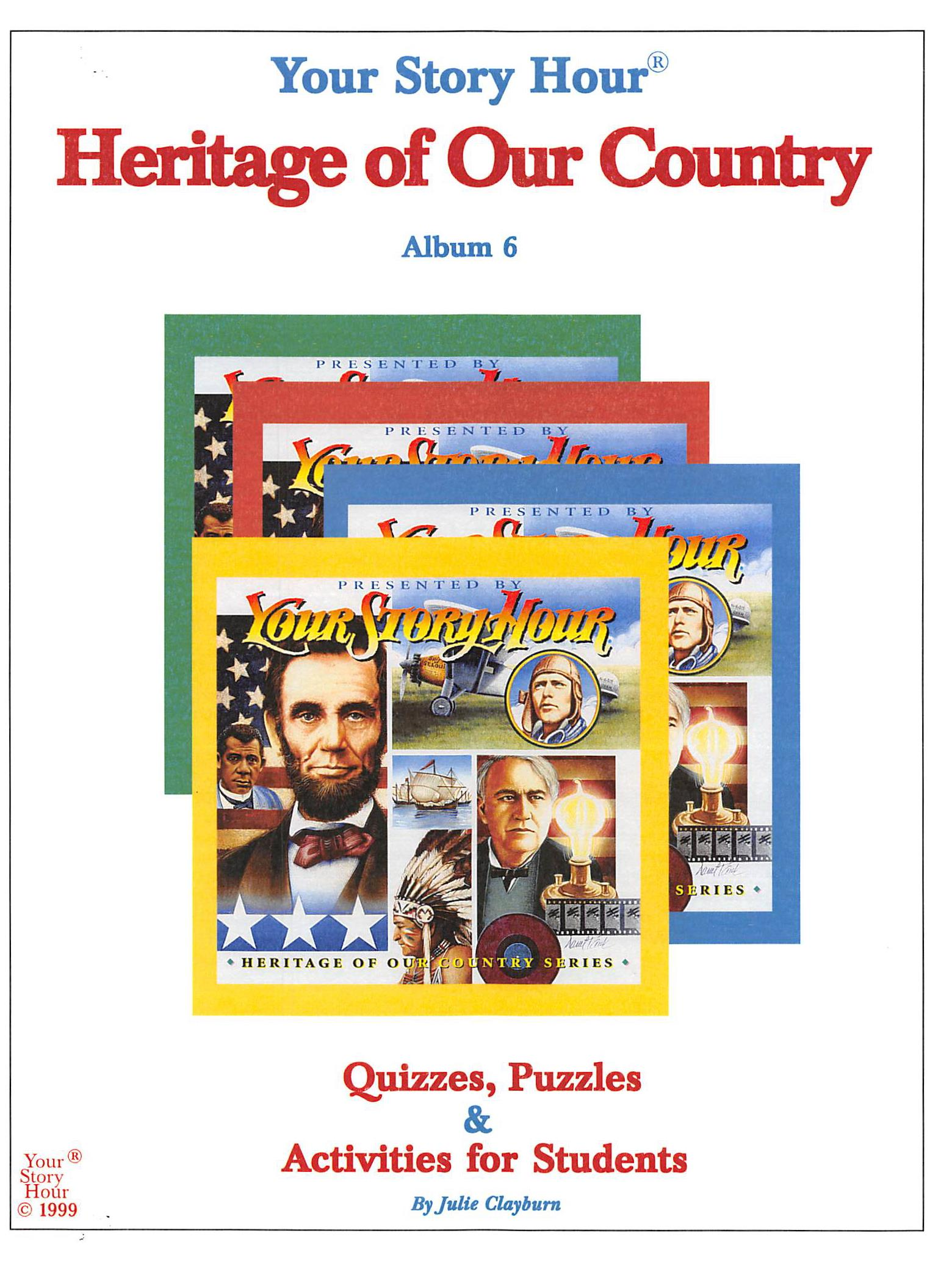 Your Story Hour Heritage of Our Country - Activity Book